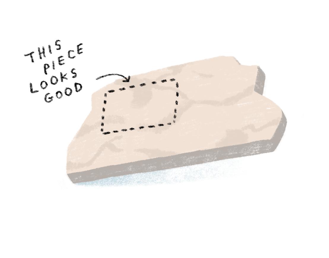 table cut illustration