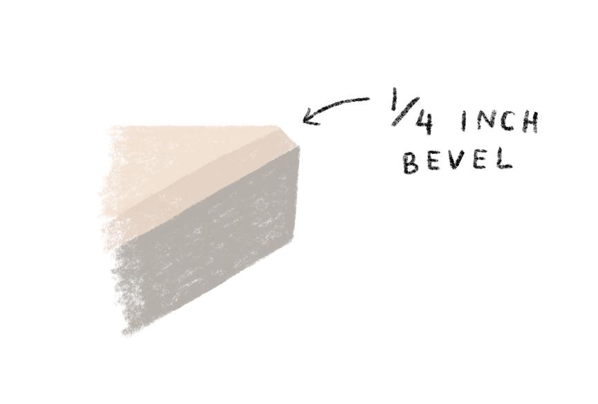 beveled table edge illustration