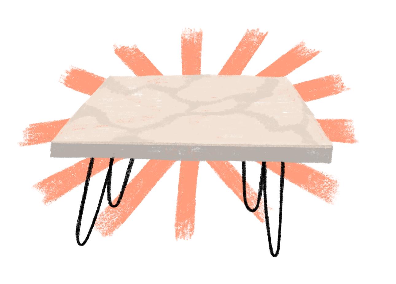 finished table illustration