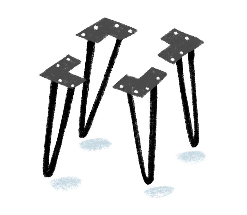 hairpin legs illustration